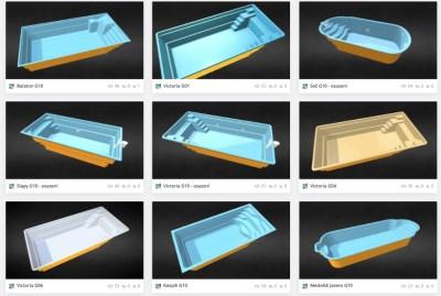 3D modely bazénů